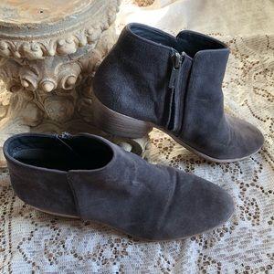 Sam Edelman gray suede booties